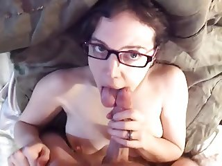 Teen Head #135 (Busty Four-eyes on the Bed)