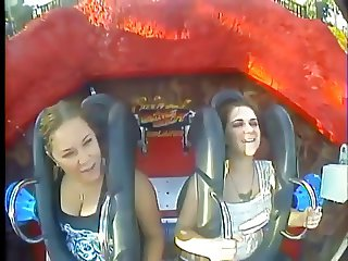 Oops Big Boobs & Tits in Roller coasters (Compilation)
