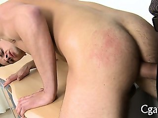 Oral for charming gay stud