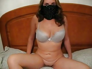 Masked Cheating wife sucking and riding her young lover