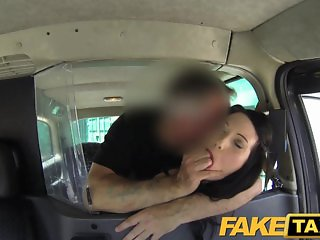 FakeTaxi - Gothic looking woman takes it hard