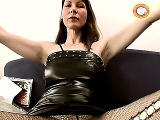 Horny mature skank spreads her legs part6