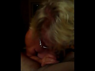 Claire Knight dribbles huge load over tits