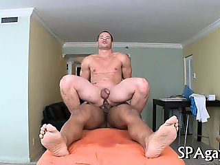 Provocative homosexual oral job