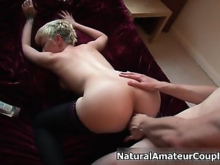 Awesome blonde is fucked part4