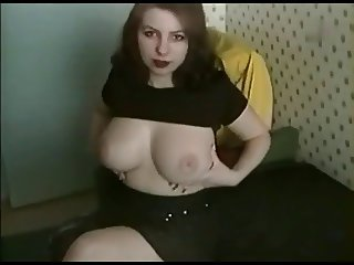 Fat Chubby GF with nice tits riding cock