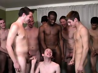 Gay movie The Bukkake Boys were amazed with his oral skills