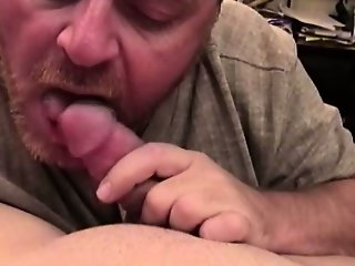 Bear mature pov sucking young dick