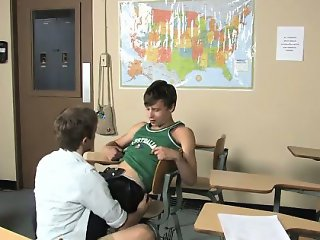 Gay cock Ashton Rush and Brice Carson are at school practici
