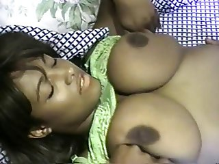 Beautiful ebony girl with big tits
