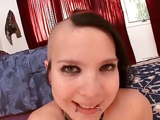 Young and tiny punk girl gets fucked