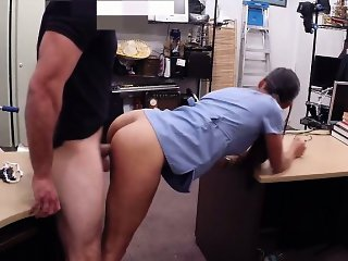 Desperate nurse sells her old teapot and fucked hard