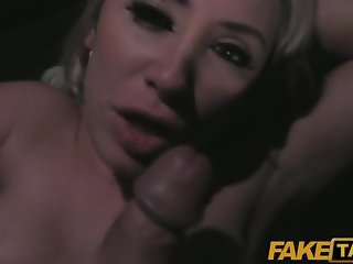 FakeTaxi - MILF with huge juggs tits wanks