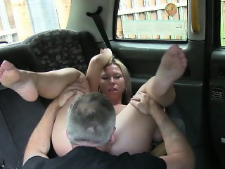 Busty amateur banged by fake driver for a free cab fare