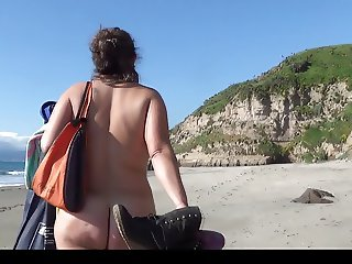 Nude Beach - Nude Beach Walking around with my girlfriend