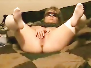 Playing with tiny Dildo