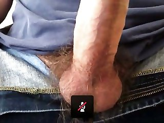 Daddy blasts huge load for me