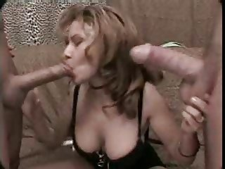mexican milf with two guys