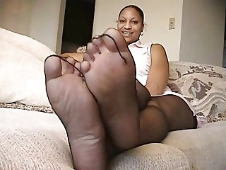 Ebony Pantyhose Feet 8