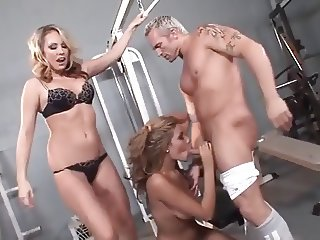 Gym Threesome