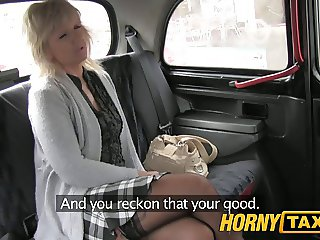 HornyTaxi Mature blonde mom has the ride of her life