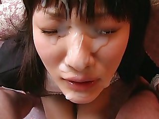 big facial on japanese girl