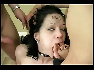 Submasive Teen Whore BlowBang