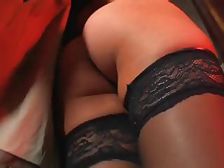Cute blonde lady gets naked