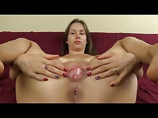 Asshole Puckering Pussy Spreading Closeup