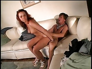 Hottie young whore rides big cock