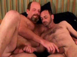 Mature straight dilf facial jizz load