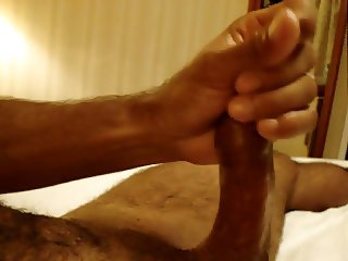 Playing oiled and cum