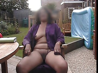 sitting in the garden