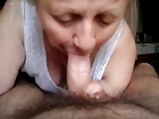 Grandma sucking cock