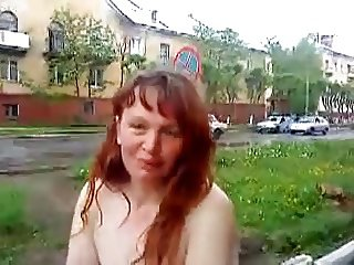 Russian mature naked in the streets