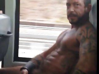 nude guy in the bus