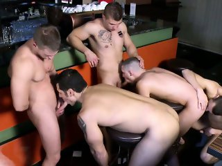 Marcus Ruhl joins an orgy in a bar
