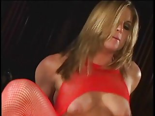 Anal blonde is a jizz whore too