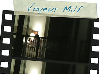 Hotel window part II (milf caught playing)