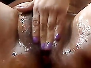 BBW nasty pussy rub with sticky squirt action