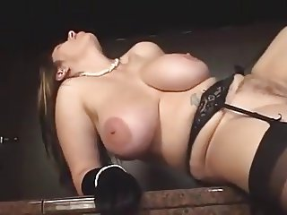 Big titted mature in stockings fucked