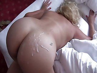 Fuck perfect Russian pussy and cum on ass