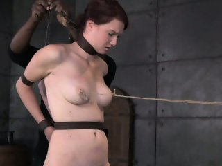 BDSM fetish Ashley Lane tits tied up