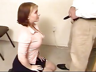 Submissive amateur slave learns how to suck dick