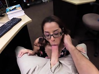 Sexy college student back office bang