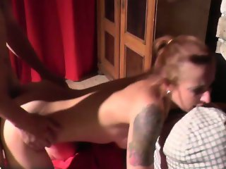 Licking pussy, deepthroat and hard fuck with nasty MILF
