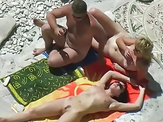 Nude Beach - Three Couples