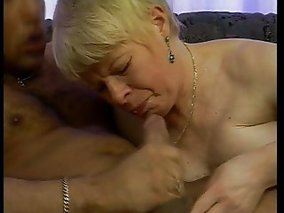 GERMAN GRANNY FUCKED IN DOGGY STYLE ON THE SOFA