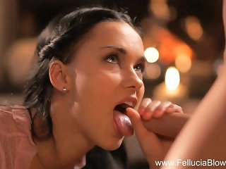 Brunette Goddess Sucking It Slow And Deep