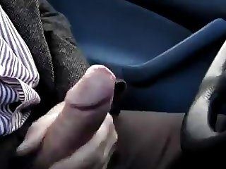 big cum in car